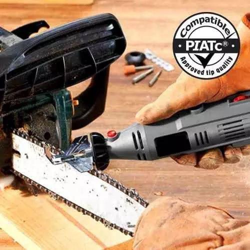 Kit De Afiar Motosserra P/ Micro Retifica Tipo Dremel 1453  - MRE Ferramentas