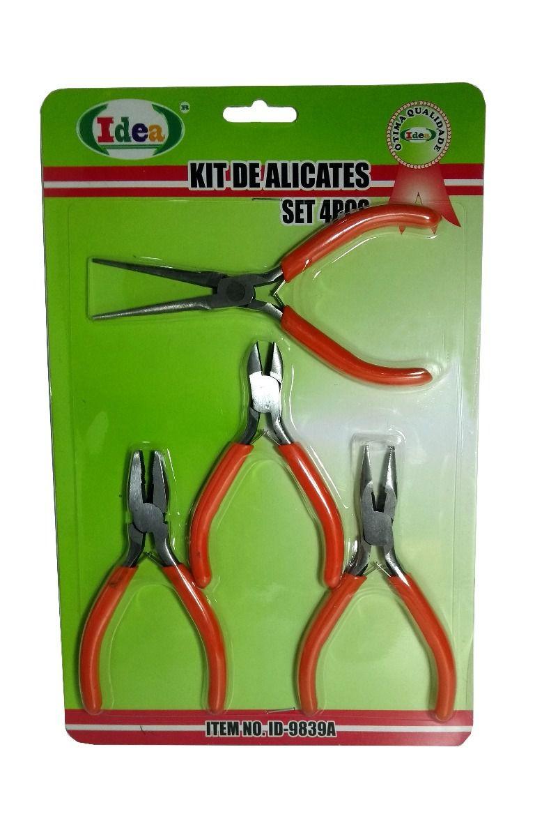 Kit De Alicates 4 Peças Idea 9839A  - MRE Ferramentas