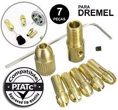 Kit De Pinças Micro Retífica Dremel Mandril Para Motor 7 Pç  - MRE Ferramentas
