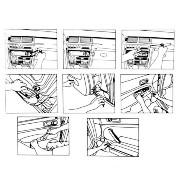 Kit Espatulas Nylon Para Desmontar Painel E Portas  - MRE Ferramentas
