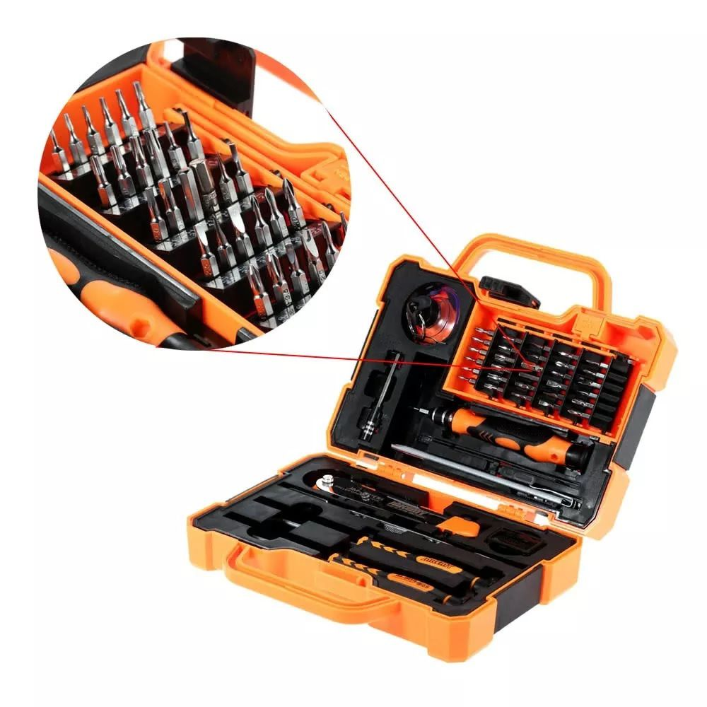 Kit Ferramentas Multifuncional 45 Peças Profissional Jakemy JM-8139  - MRE Ferramentas