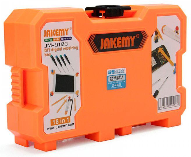 Kit Ferramentas Multifuncional 18 Peças Profissional Jakemy JM-9103  - MRE Ferramentas
