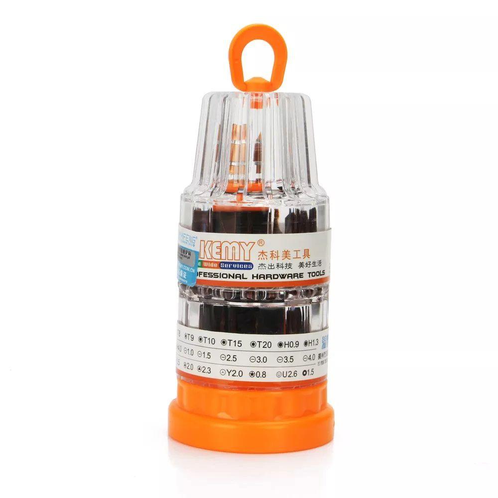 Kit Ferramentas Multifuncional 37 EM 1 Profissional Jakemy JM-8117 (Caixa com 10 Kits)  - MRE Ferramentas