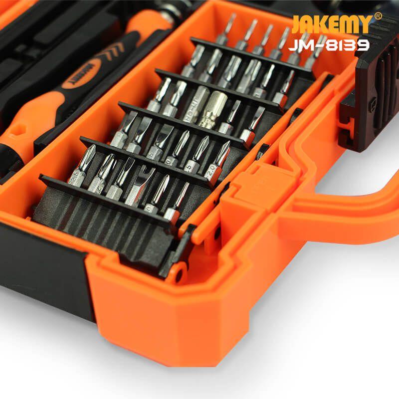 Kit Ferramentas Multifuncional 45 Peças Profissional Jakemy JM-8139 (Caixa com 10 Kits)  - MRE Ferramentas