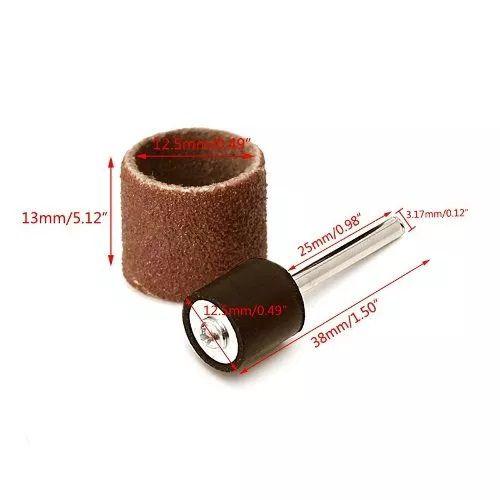 Kit Lixa P/ Micro Retifica Dremel Gr120 1/2 + Haste C/50 Pcs  - MRE Ferramentas