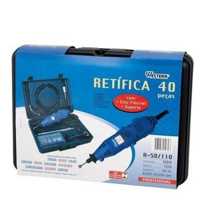 Kit Micro Retífica Western R-50 C/ 40 Peças   - MRE Ferramentas