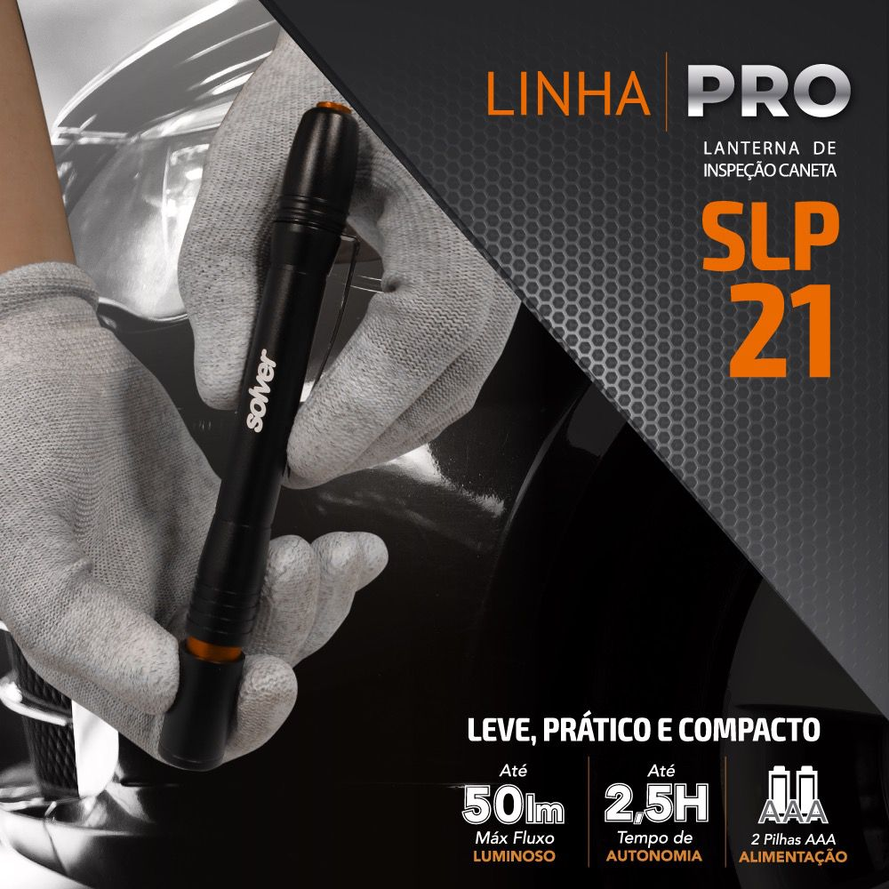 Lanterna LED de Inspeção Pro tipo Caneta Solver SLP-21   - MRE Ferramentas