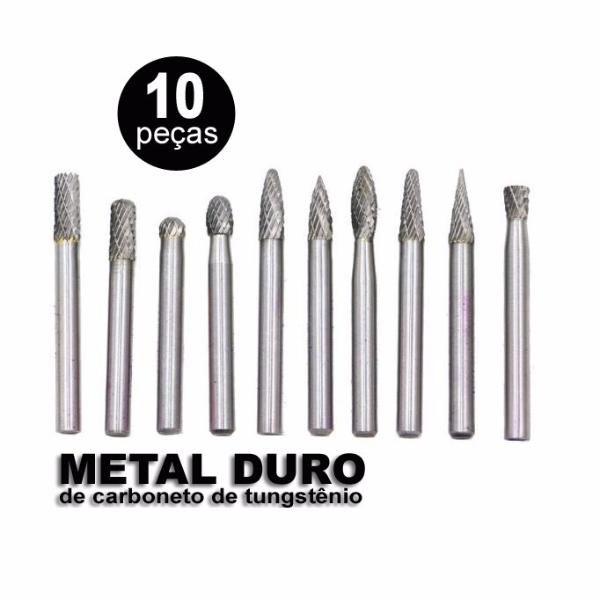 Lima E Fresa Rotativa Metal Duro Tungstênio Retifica C/10 Pç  - MRE Ferramentas