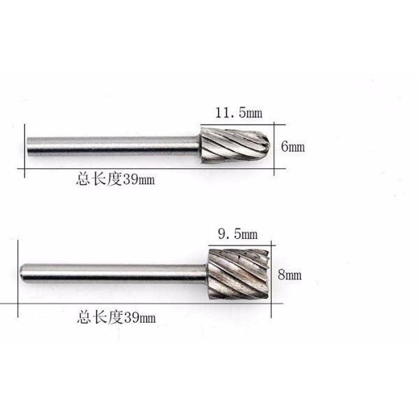 Lima e Fresa Rotativa P/Micro Retifica Dremel 1/8 Kit C/6pç  - MRE Ferramentas
