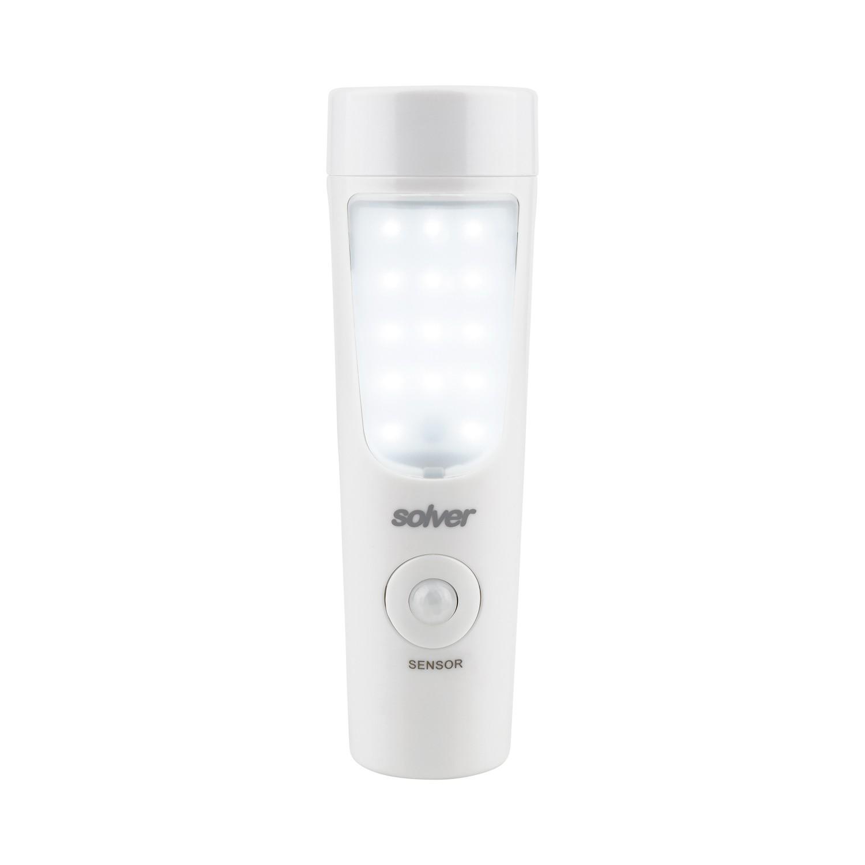 Luminária com Sensor e Lanterna Solver SLM-302  - MRE Ferramentas