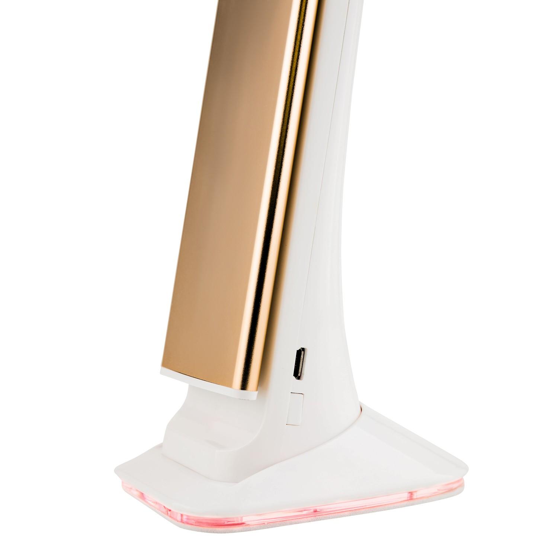 Luminária de Mesa Led Touch com Relógio Solver SLM-101 - Dourada  - MRE Ferramentas