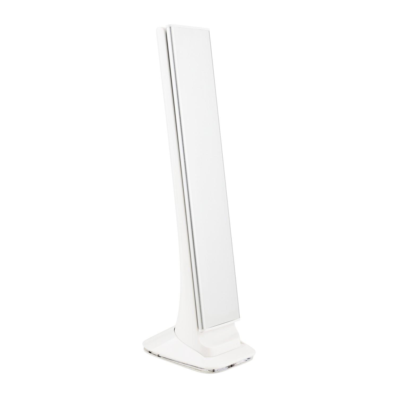 Luminária de Mesa Led Touch com Relógio Solver SLM-101 - Prata  - MRE Ferramentas