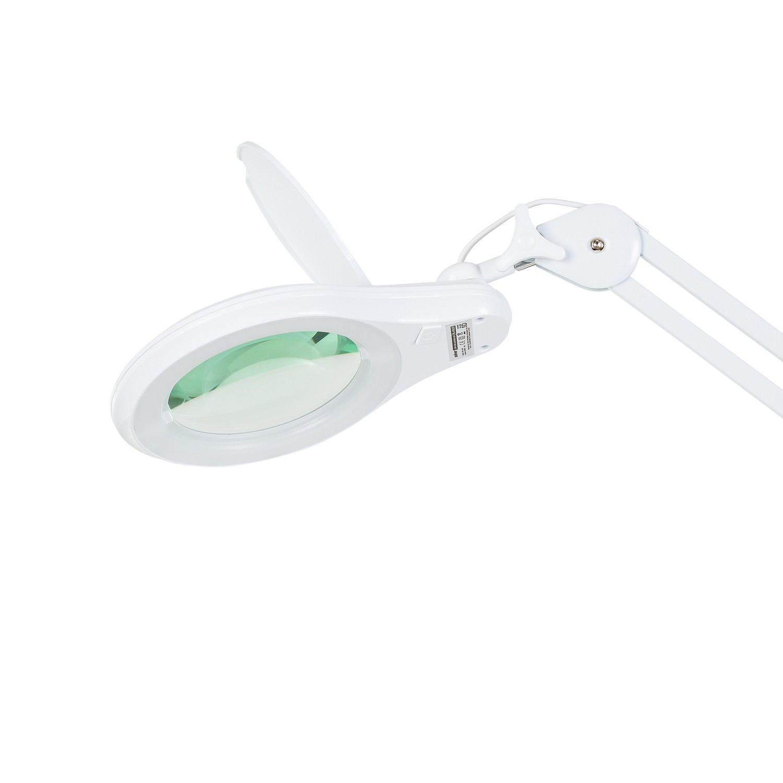 Lupa 5X Luminária LED c/Dimmer Tripé e 03 Bandejas Solver HL-410  - MRE Ferramentas