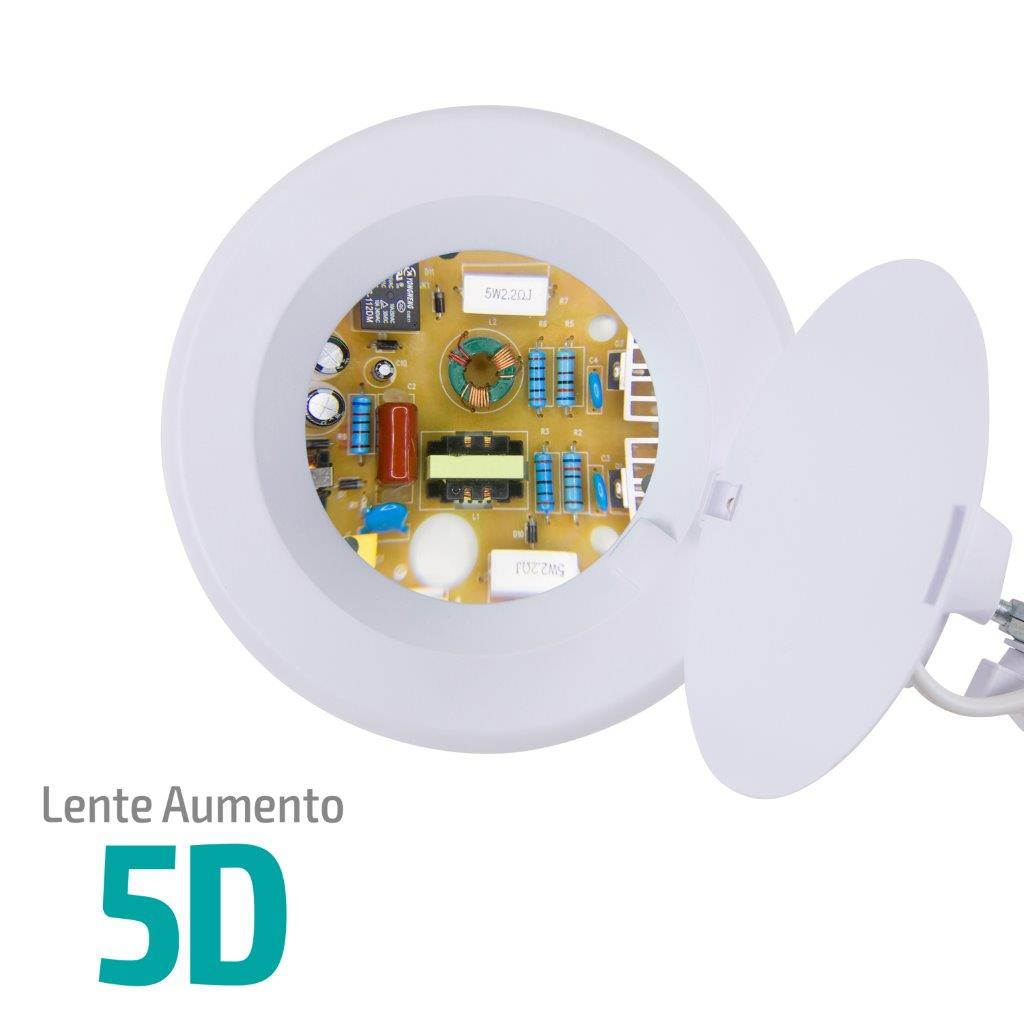 Lupa 5X Luminária LED Tripé e 02 Bandejas Solver HL-500  - MRE Ferramentas