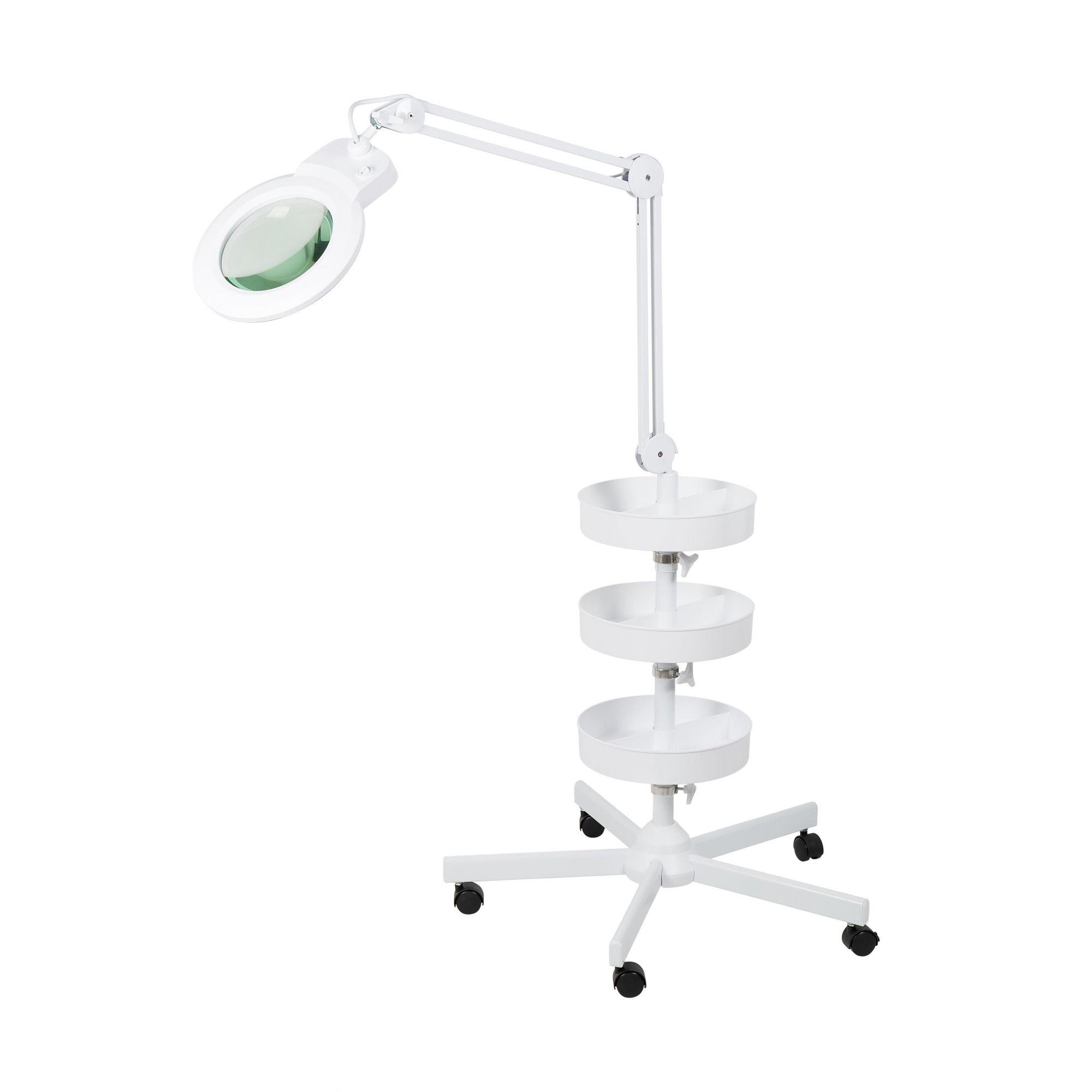 Lupa 5X Luminária LED Tripé e 03 Bandejas Solver HL-900  - MRE Ferramentas