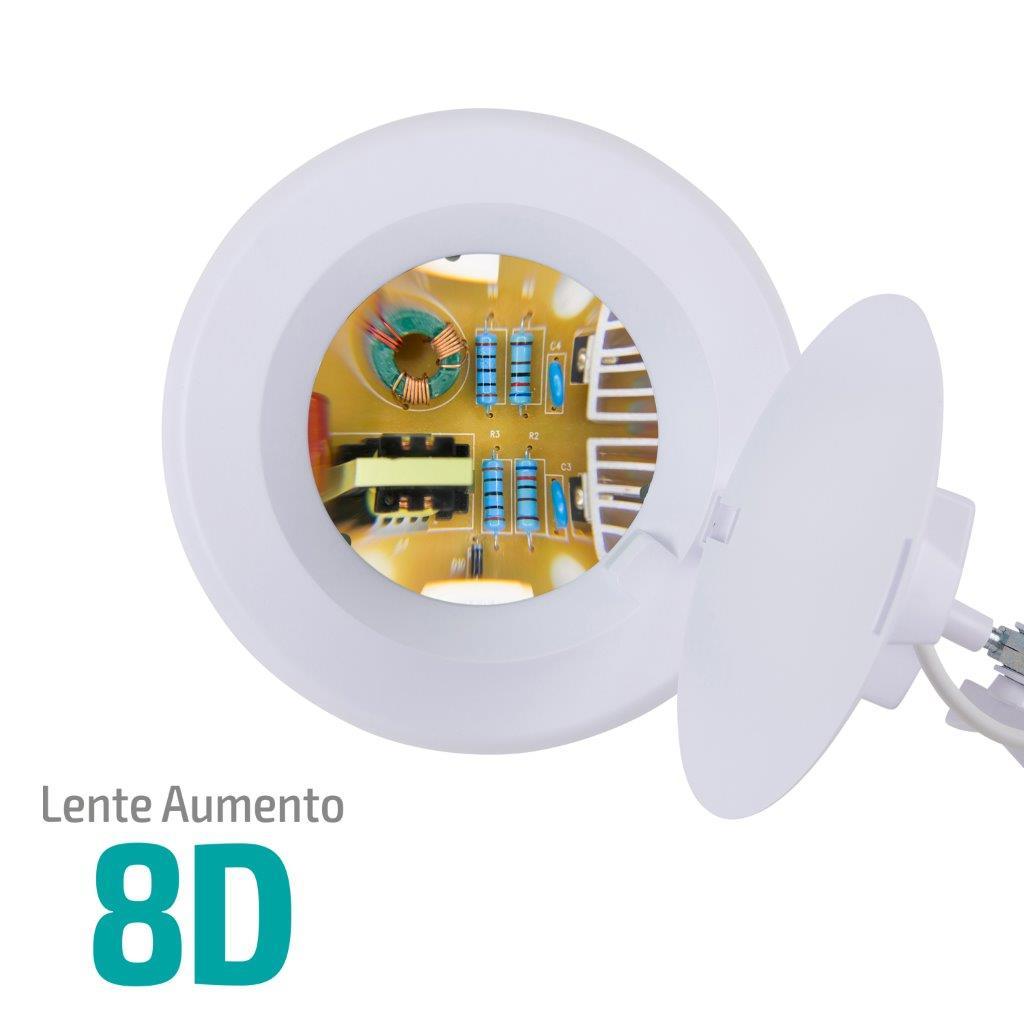 Lupa 8X Luminária LED Tripé e 02 Bandejas Solver HL-500  - MRE Ferramentas