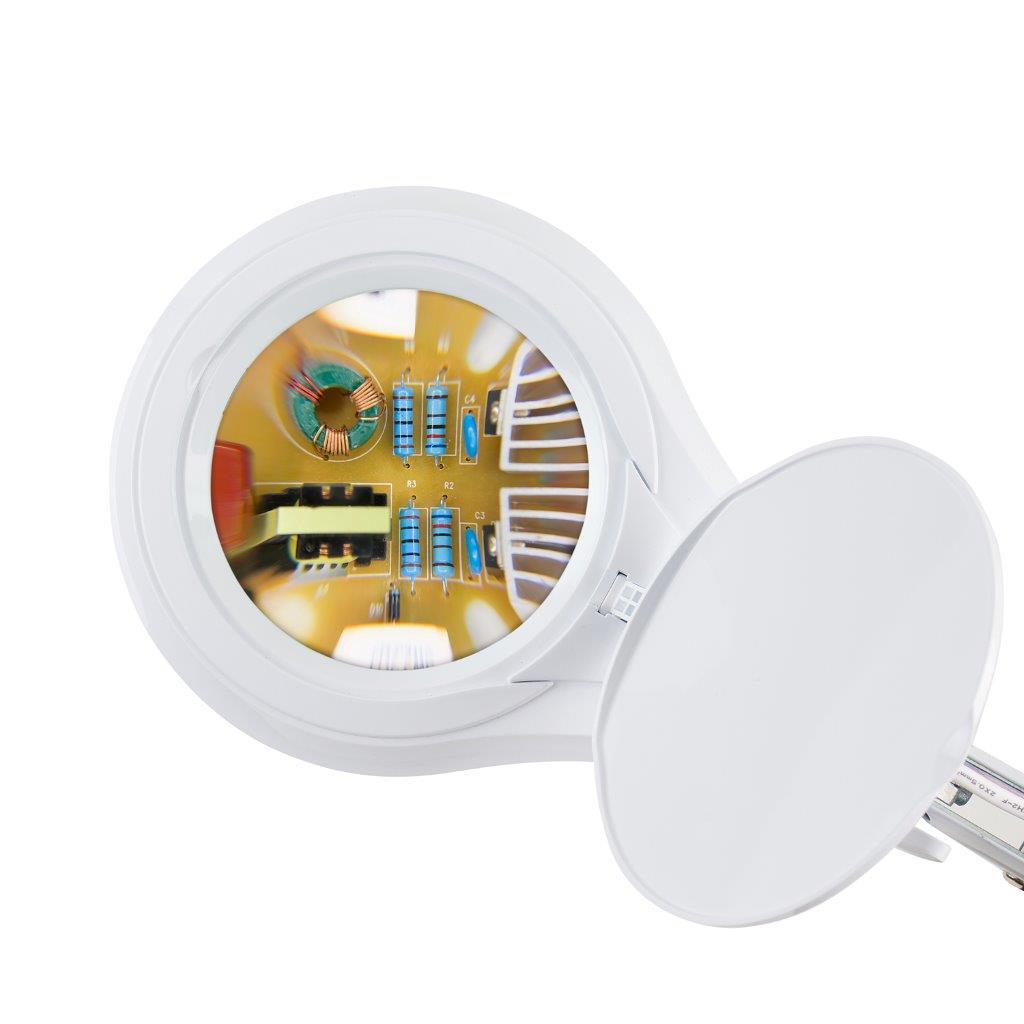 Lupa de Bancada com 4 Intensidades de Iluminação LED Solver HL-410 5X  - MRE Ferramentas