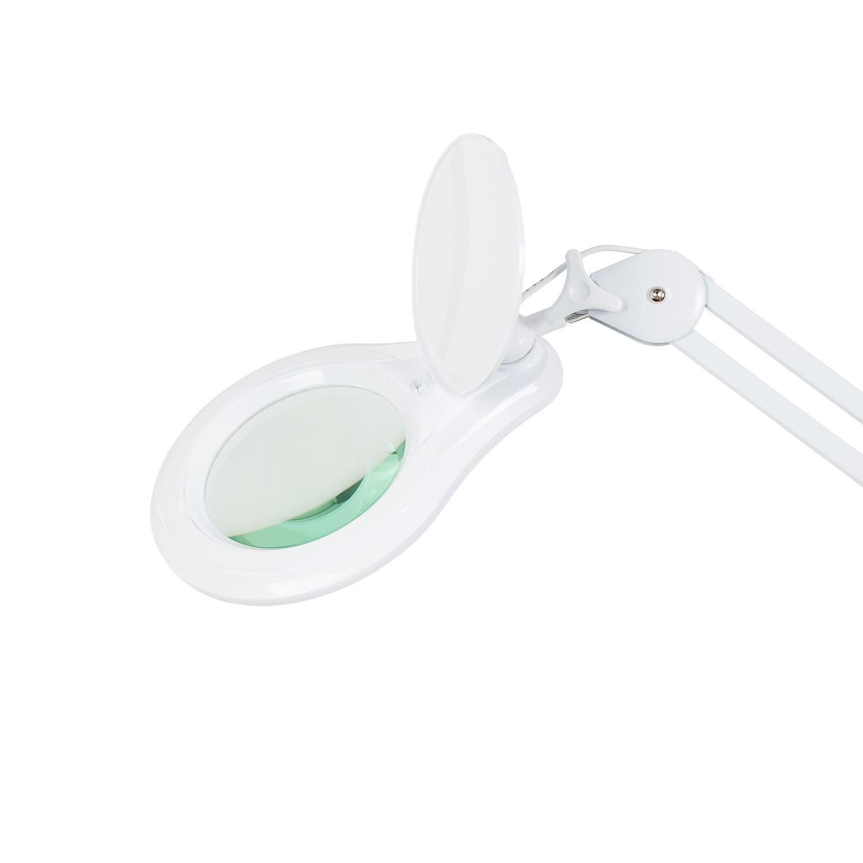 Lupa de Bancada com 4 Intensidades de Iluminação LED Solver HL-410 8X  - MRE Ferramentas