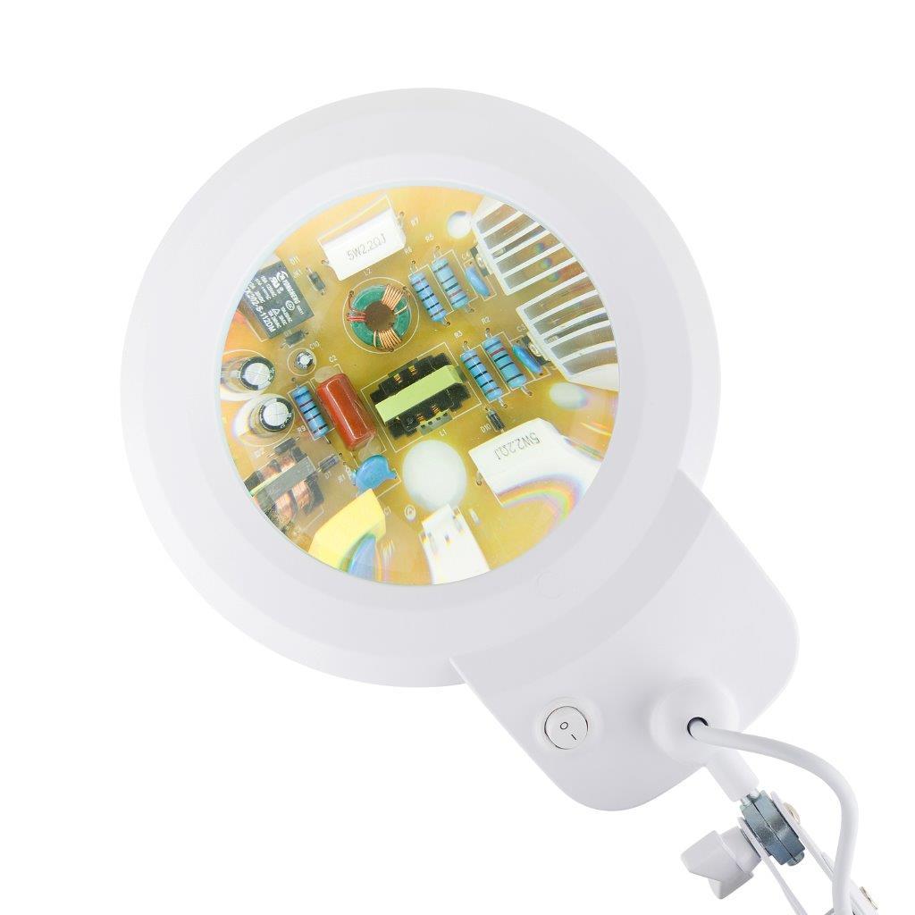 Lupa de bancada com iluminação LED Solver HL-900 5X Bivolt  - MRE Ferramentas