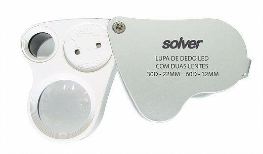 Lupa de Bolso Dupla LED Solver SLD-132  - MRE Ferramentas