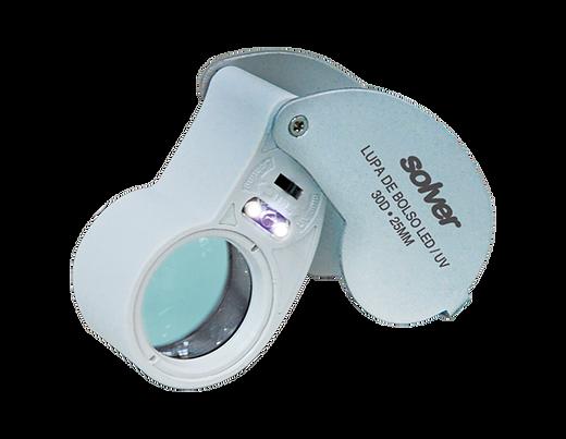 Lupa de Bolso LED/UV Solver SLD-131  - MRE Ferramentas