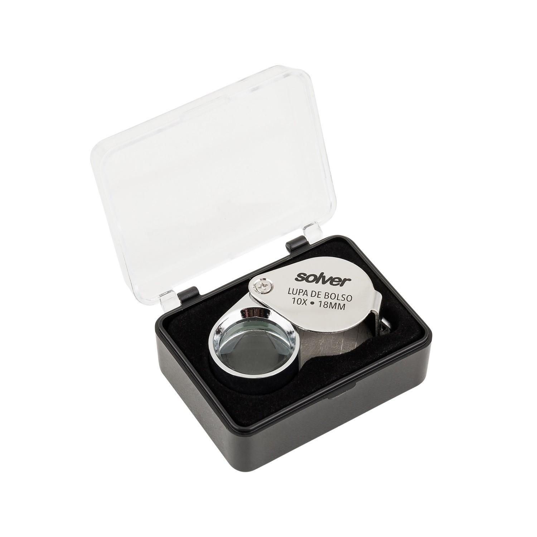 Lupa de Bolso Solver 10X SLD-110  - MRE Ferramentas