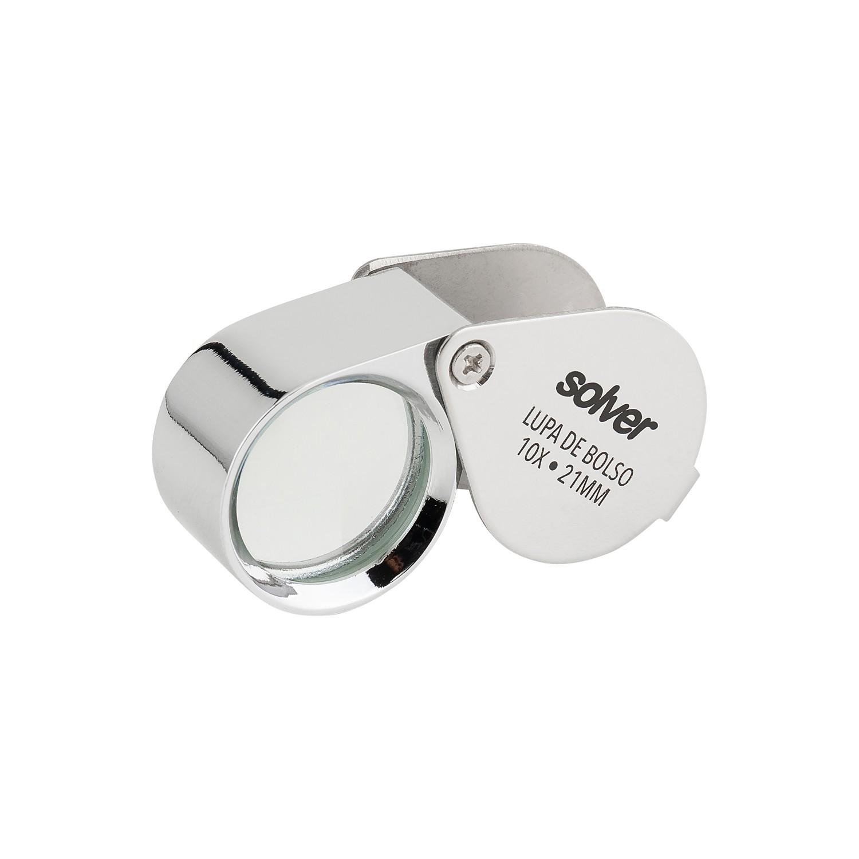 Lupa de Bolso Solver 10X SLD-111  - MRE Ferramentas