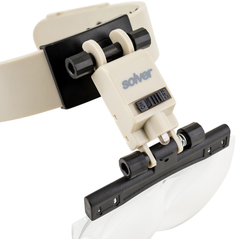 Lupa de Cabeça com Led Solver SLC-1010  - MRE Ferramentas