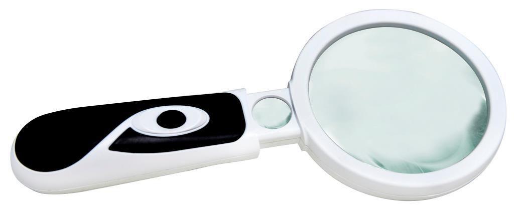 Lupa de Mão Dupla LED Solver SLP-185  - MRE Ferramentas