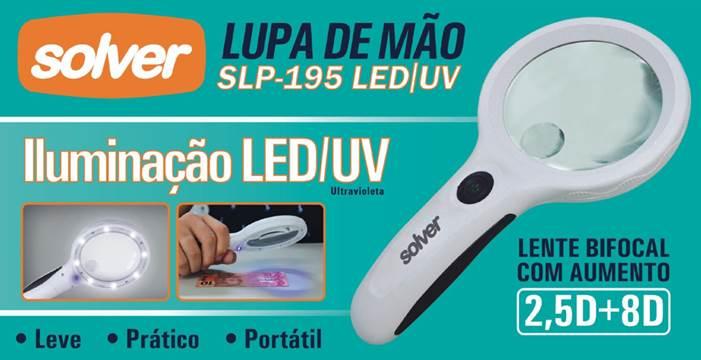 Lupa de Mão LED/UV Solver SLP-195   - MRE Ferramentas
