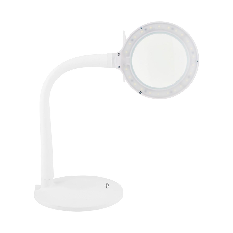 Lupa de Mesa 3 Intensidades de Iluminação LED Solver HL-210 Bivolt  - MRE Ferramentas