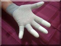 Luva Anti-estática FingerFit com PU na Ponta dos Dedos (Par)  - MRE Ferramentas