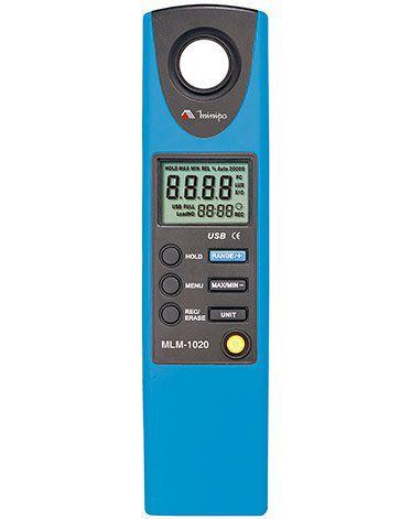 Luxímetro Digital com DATALOGGER E INTERFACE USB Minipa MLM-1020  - MRE Ferramentas