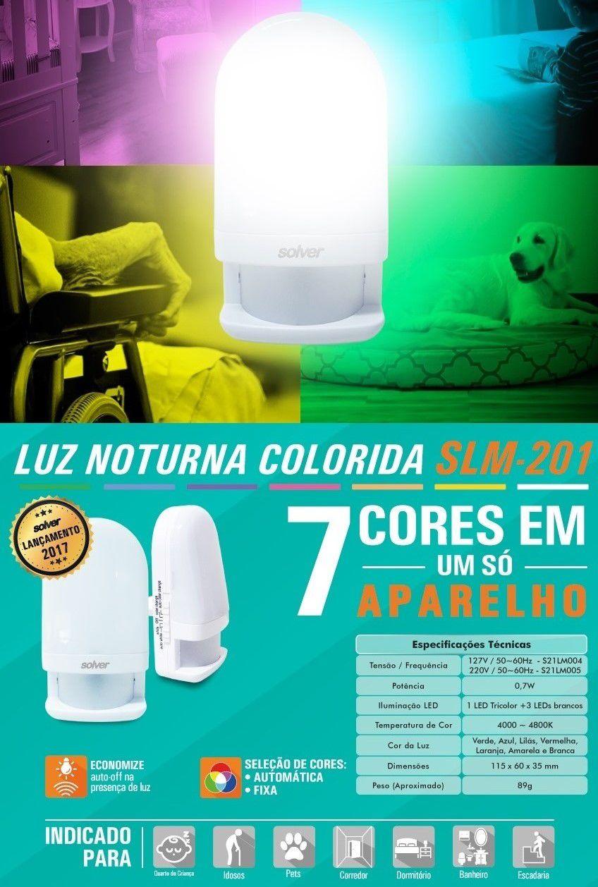 Luz Noturna Colorida Solver SLM-201  - MRE Ferramentas