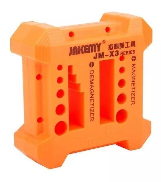 Magnetizador e Desmagnetizador de Chaves Manuais Portátil Jakemy JM-X3  - MRE Ferramentas
