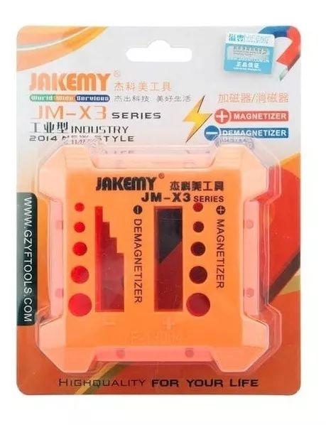 Magnetizador e Desmagnetizador de Chaves Manuais Portátil Jakemy JM-X3 (Caixa com 10 Peças)  - MRE Ferramentas