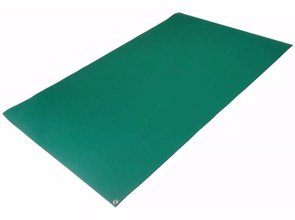 Manta Anti-estática Dupla Camada Verde / Preto 30 x 50cm com ilhós  - MRE Ferramentas
