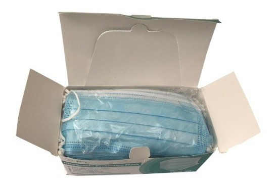 Mascara Descartável Tripla Camada Com Elástico (Caixa 50 peças)  - MRE Ferramentas