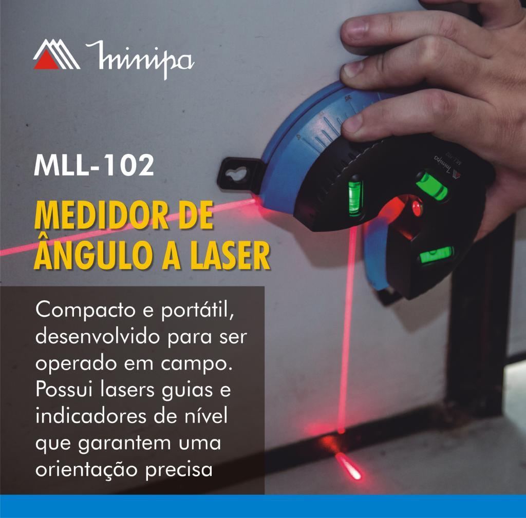 Medidor de Ângulo à Laser Minipa MLL-102  - MRE Ferramentas