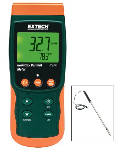 Medidor de conteúdo de umidade e registrador de dados Extech SDL550 (Refurbished)  - MRE Ferramentas