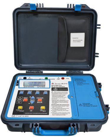 Megômetro 15Kv Alta Tensão USB Minipa MI-2715  - MRE Ferramentas