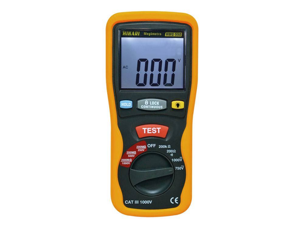 Megômetro Digital Hikari HMG-550  - MRE Ferramentas
