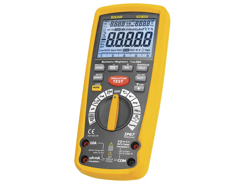 Megômetro Digital Hikari HMI-600  - MRE Ferramentas