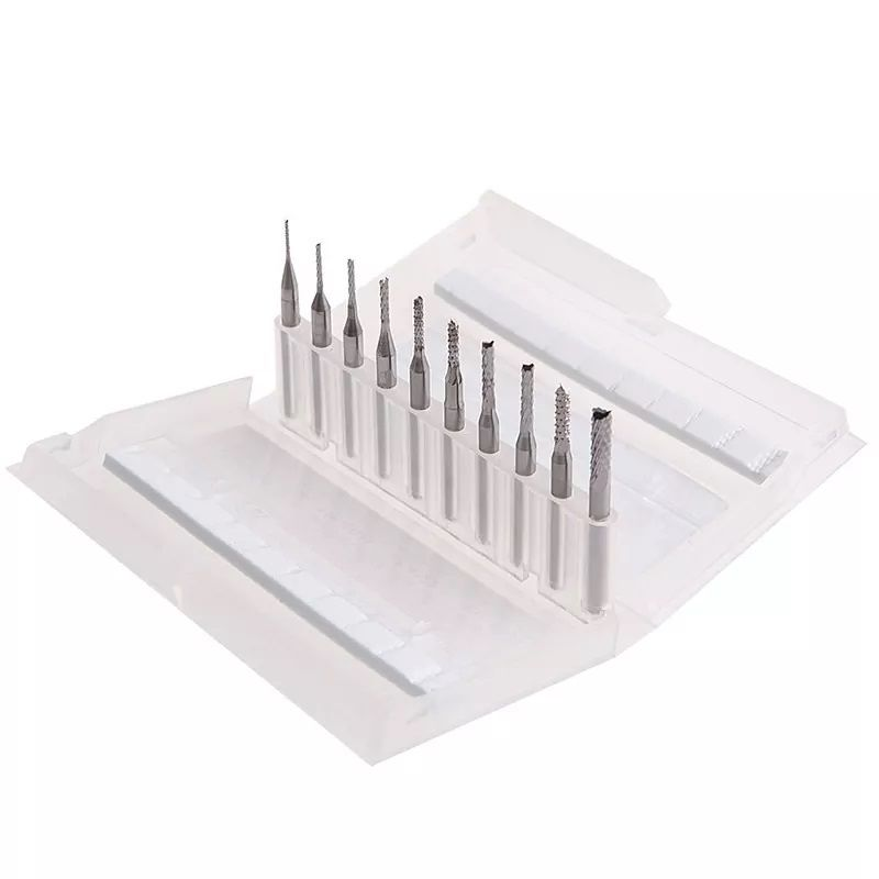 Micro Fresa Corte PCB Metal Duro P/ Retífica Dremel C/10pcs  - MRE Ferramentas
