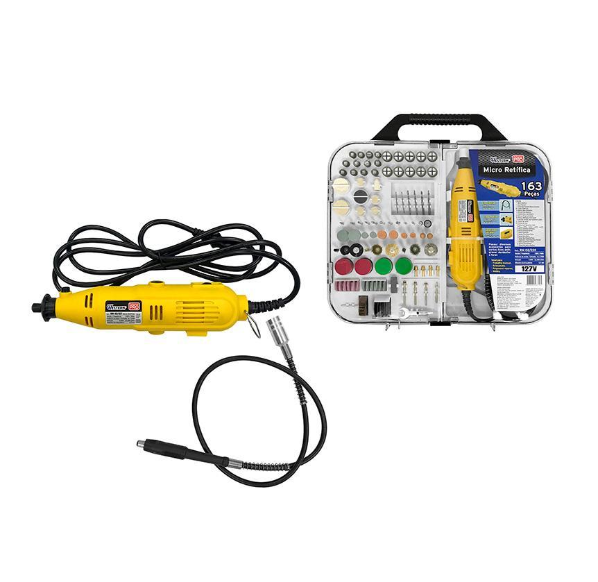 Micro Retifica Profissional 163 Peças Western RM-02  - MRE Ferramentas