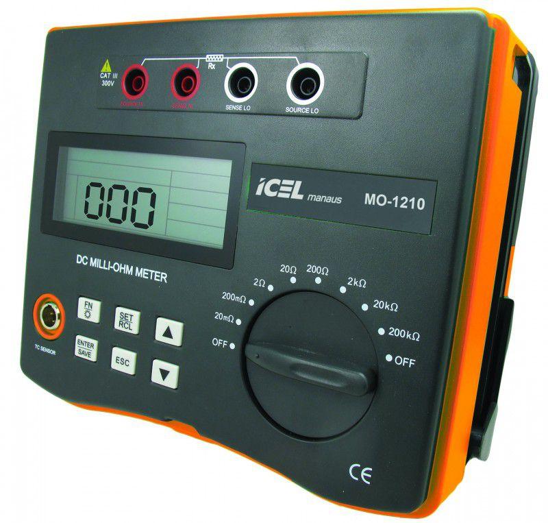 Miliohmímetro Digital Icel MO-1210  - MRE Ferramentas