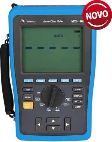 Miliohmímetro Digital Minipa MOH-100  - MRE Ferramentas
