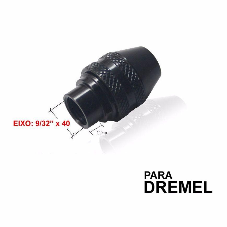 Mini Mandril Aperto Rápido P/ Micro Retífica 9/32 X40 Dremel  - MRE Ferramentas