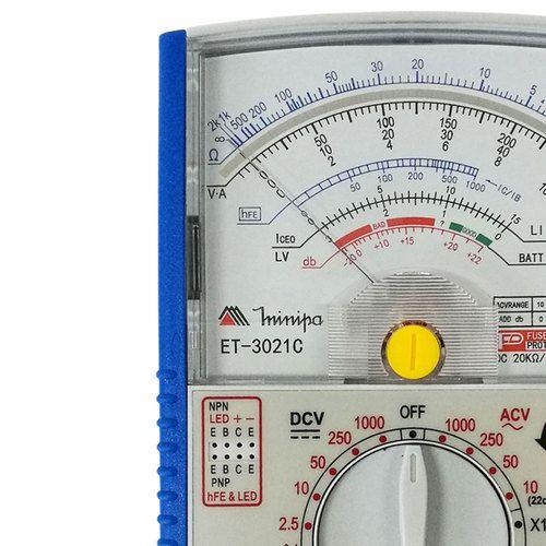 Multímetro Analógico Minipa ET-3021C  - MRE Ferramentas