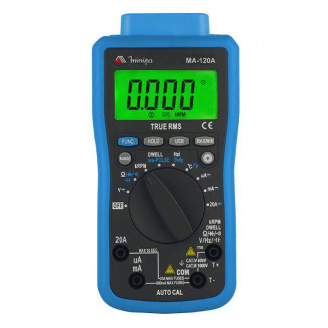 Multímetro Automotívo Digital Minipa MA-120A  - MRE Ferramentas